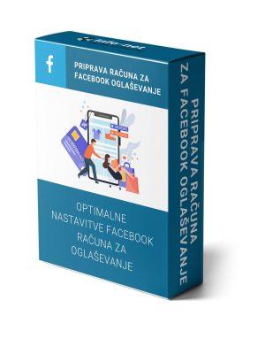 priprava računa facebook oglaševanje