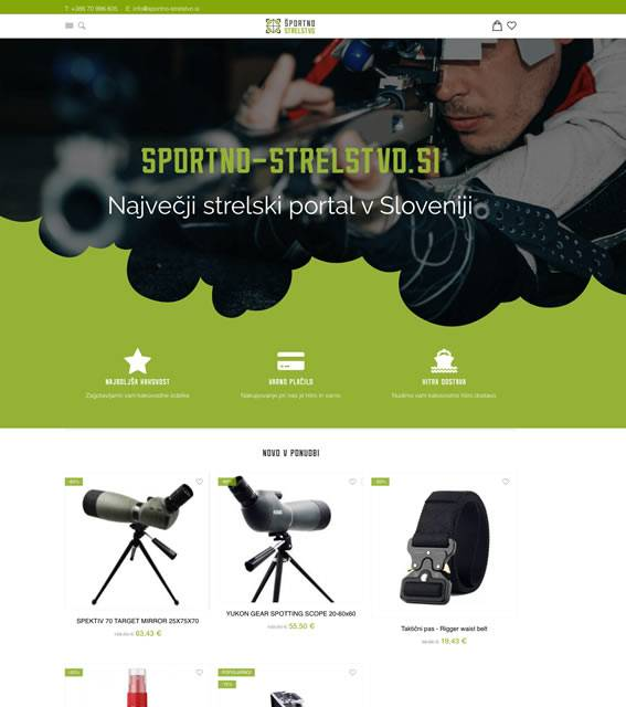 spletna trgovina za športne strelce
